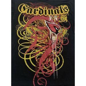 CARDINALS Reebok T Shirt Script Spell Out Logo M